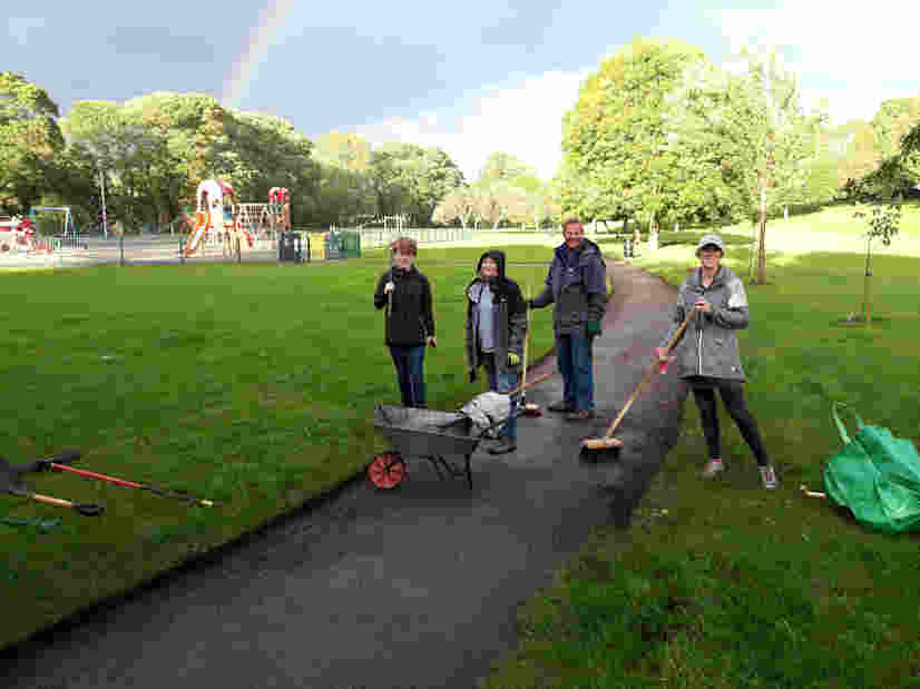 Friends of Ilkley Riverside Parks Path Edging